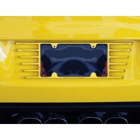 2014-2019 C7 Corvette Billet Open End Painted License Plate Frame