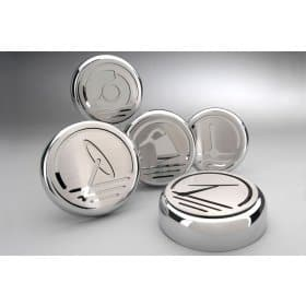 Mustang Stainless Steel Executive Series Engine Caps