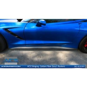 2014-2019 C7 Corvette ACS Carbon Fiber Side Skirts