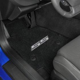 2016-2018 6th Generation Camaro Silver SS Logo Front Floor Mats