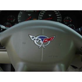 C5 Corvette Raised Steering Wheel Domed Decal