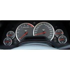 C5 1997-2004 Corvette Anodized Aluminum Gauge Bezels
