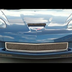 C6 2006-2013 Corvette Z06 All Stainless Diamond Laser Cut Mesh Grille