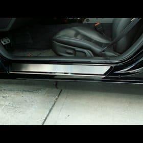 C6 Corvette  Deluxe Stock Doorsills Polished w/Brushed Inserts