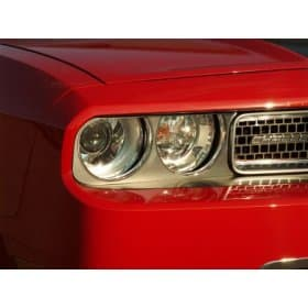 2008-2014 Dodge Challenger Brushed Stainless Headlight Surround Trim