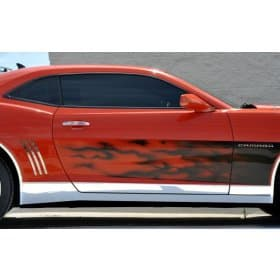 2010-2015 Camaro Deluxe Polished Stainless Steel Rocker Panel Kit