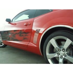 2010-2015 Camaro Stainless Steel Rear Quarter Trim 6pc Set