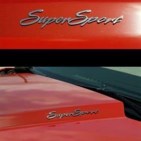 2010-2015 Camaro Exterior Badges Polished - Super Sport