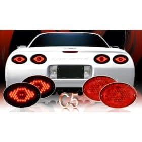 C5 Corvette Max Red L.E.D Tail Lights