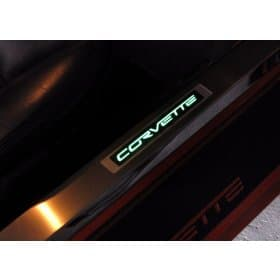 C6 Corvette LED Lighted Door Sill Plates