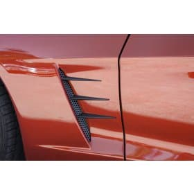C6 Corvette Blakk Stealth Vent Spears w/Perforated Grilles