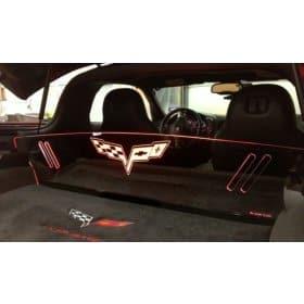 C6 Corvette Coupe Glow Plate Partition