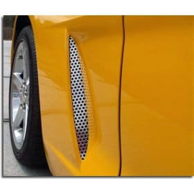 C6 Corvette Perforated 2-pc Stainless Vent Grills