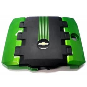 2010-2015 Camaro V6 Painted Engine Cover with Painted Stripes