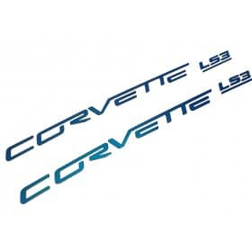 C6 Corvette Painted Fuel Rail Lettering Kit