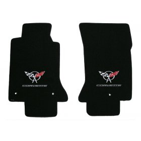 C5 Corvette Lloyd Classic Loop Front Floor Mats with Silver Emblem