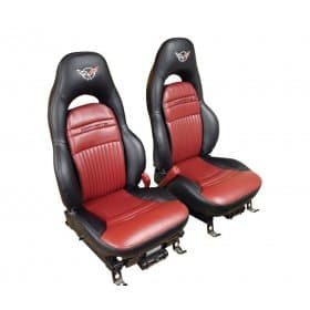C5 Corvette Replacement Leather Embroidered Leather Seat Covers