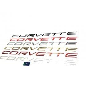 C5 Corvette Front Bumper Domed Lettering Letters Package