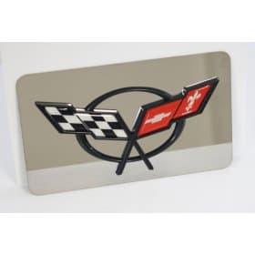 C5 Corvette Exhaust Plate w/C5 Logo