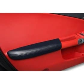 C6 2005-2013 Corvette Leather Armrest Pads -Ebony