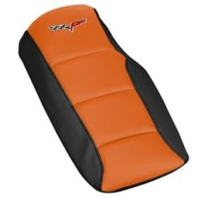 C6 Corvette  Two Tone Leather Console Cushion Lid w/Logo