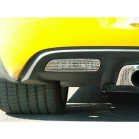 C6 Corvette 2-pc Stainless Back Up Light Covers