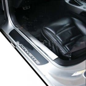 C6 Corvette Billet Door Sill Plates Protector