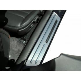 C6 Corvette Brushed Stainless Ribbed Stock Doorsills