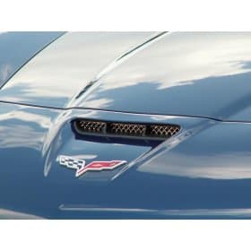 C6 Corvette Diamond Laser Mesh Hood Vent Grille for Z06/ZR1/GS