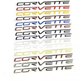 C6 Corvette Domed Dash Letters Lettering Kit