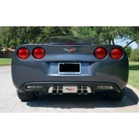 C6 2005-2013 Corvette Exhaust Filler Panel w/C6 Flags Emblem