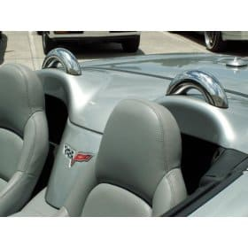 C6 Corvette Polished Stainless Convertible Dress Up Hoops