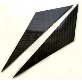 C6 2005-2013 Corvette Real Carbon Fiber A-Pillar Overlays