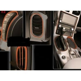 C6 Corvette Stainless Steel Dash Kit Custom Painted