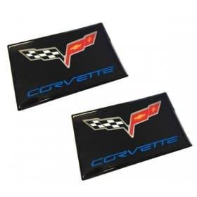 C6 Corvette Domed Visor Overlay Decals