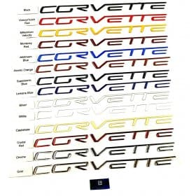 C6 Corvette  Dash Letters -Domed Lettering Kit