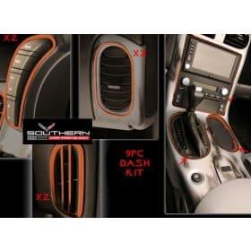 C6 Corvette  Complete Stainless Steel Dash Kit Custom Painted