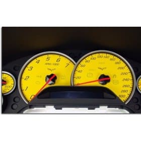 C6 Corvette Colored Dash Gauge Faces