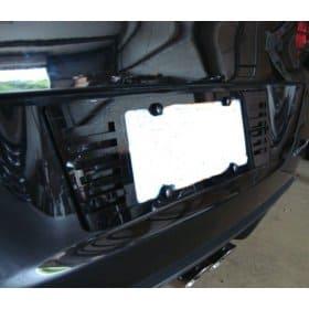 C6 2005-2013 Corvette Black Stealth License Plate Frame