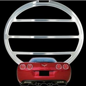 C6 2005-2013 Corvette Billet Tail Light Bezels Set