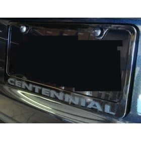 C6 2012 Corvette Grand Sport Centennial License Plate Frame