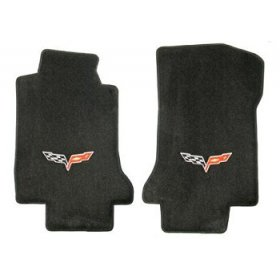 C6 Corvette Floor Mats 2007.5-13 Late (Hook)Ebony