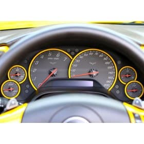 C6 Corvette Painted Gauge Bezels Rings