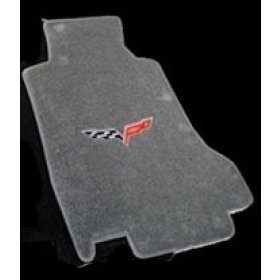 C6 Corvette Floor Mats 2007.5-13 Late (Hook)Steel Grey