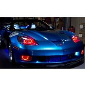 C6 Corvette Foglight Halo LED Kit
