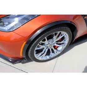 2015-2019 C7 Corvette Z06 Painted Wheel Opening Moldings Spats Set