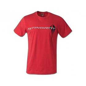 C7 2014-2018 Corvette Men's Stingray Chest Logo T-Shirt Red