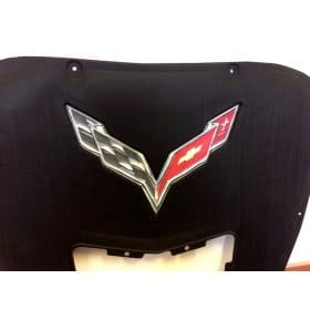 2014-2019 C7 Corvette Real Chrome Airbrushed Hood Liner