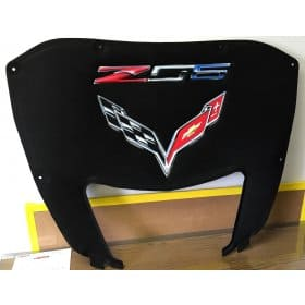 2015-2019 C7 Z06 Corvette AirBrushed Hood Liner Red/White/Blue