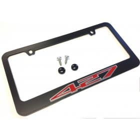 C6 2005-2013 Corvette Black License Plate Frame 427